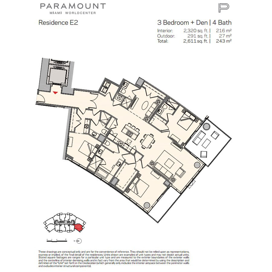 Paramount Miami Worldcenter - Floorplan 10