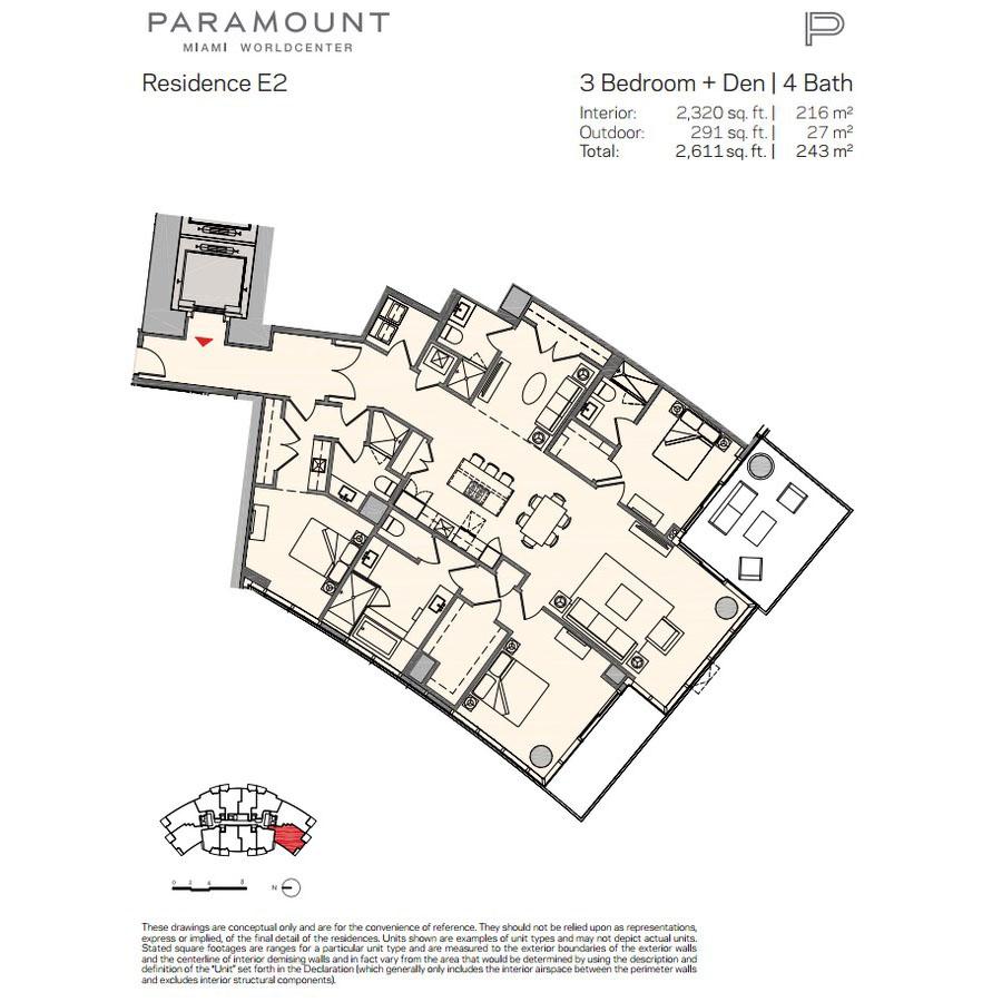 Paramount Miami Worldcenter - Floorplan 10