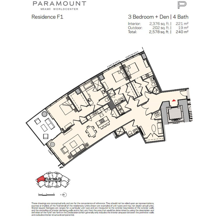 Paramount Miami Worldcenter - Floorplan 11