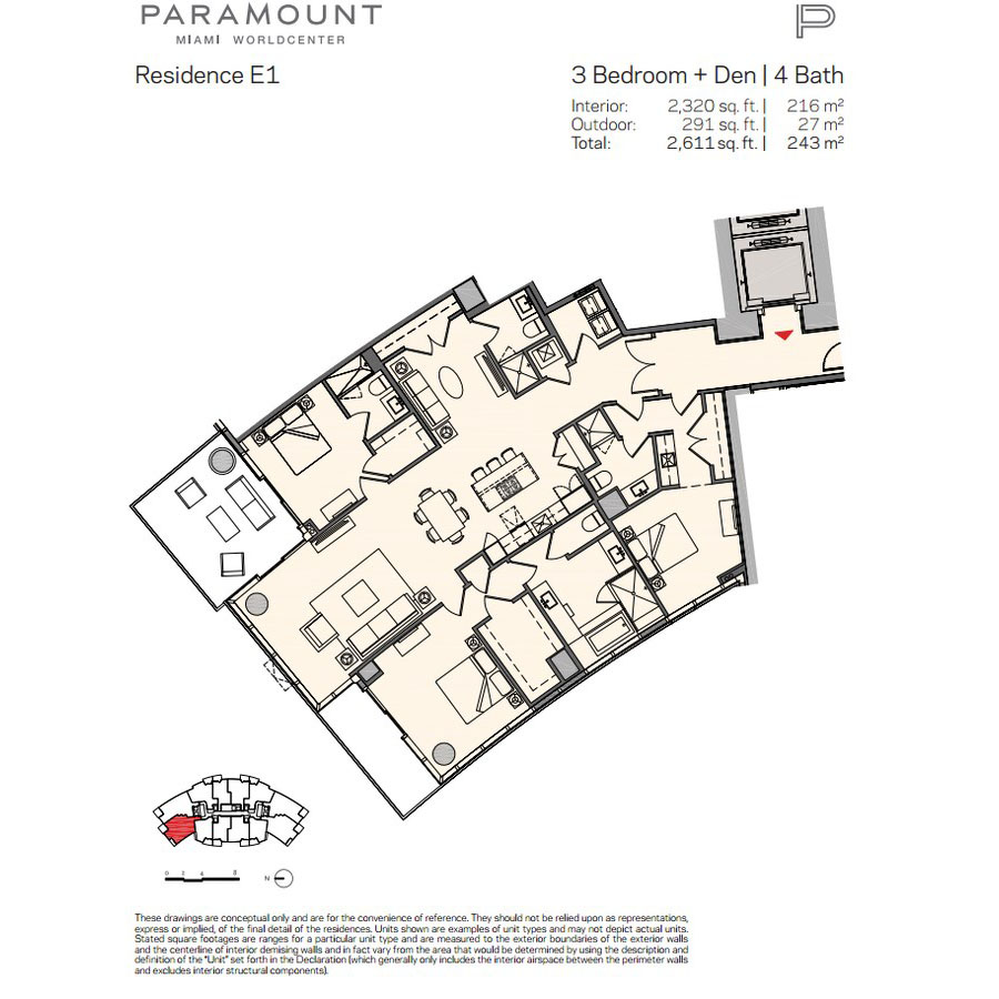 Paramount Miami Worldcenter - Floorplan 12