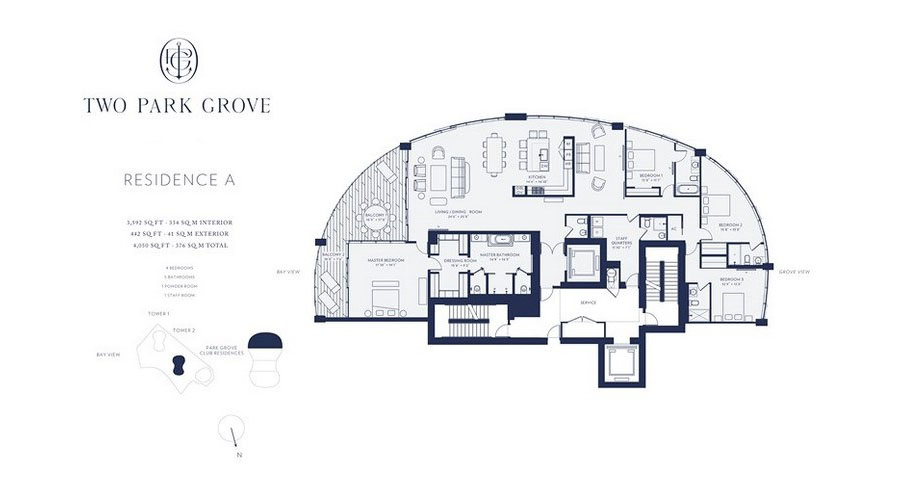 One Park Grove - Floorplan 1