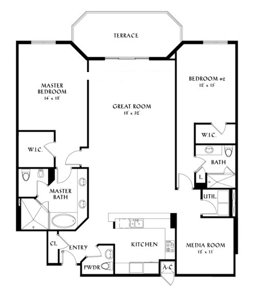 Peninsula II - Floorplan 1