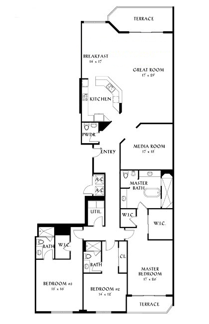 Peninsula II - Floorplan 3