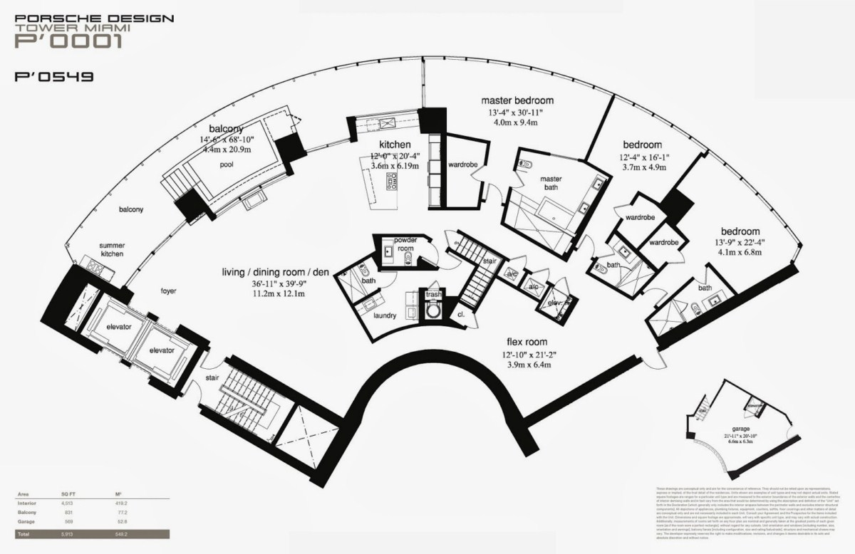 Porsche Design Tower - Floorplan 7