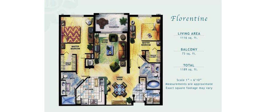 Porto Bellagio - Floorplan 6