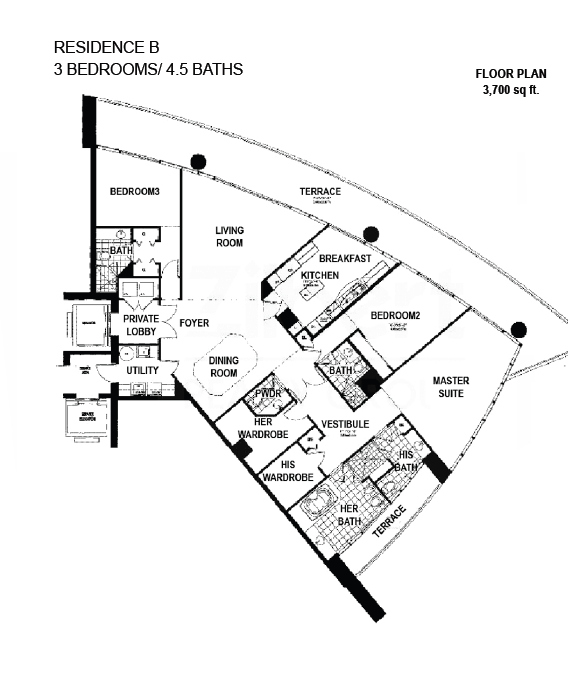 Porto Vita South Tower - Floorplan 3