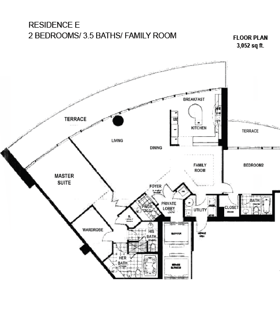Porto Vita South Tower - Floorplan 6