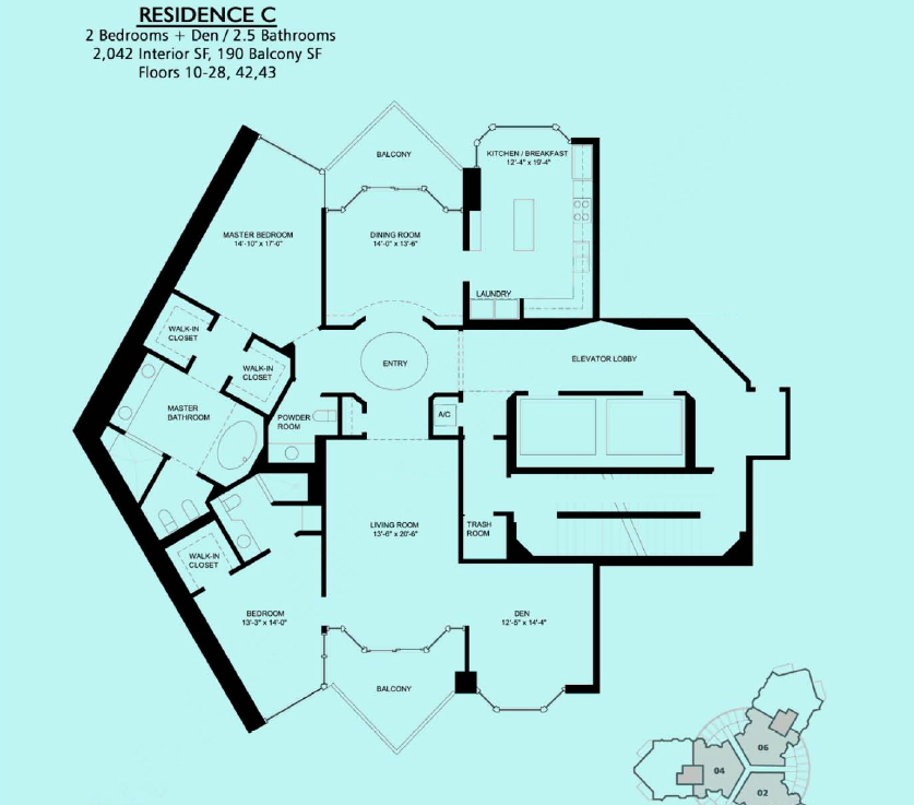 Portofino Tower - Floorplan 2