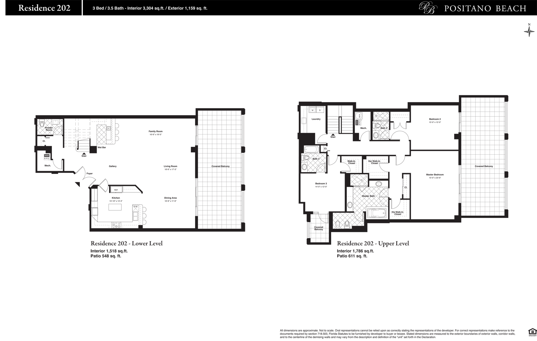 Positano Beach - Floorplan 1