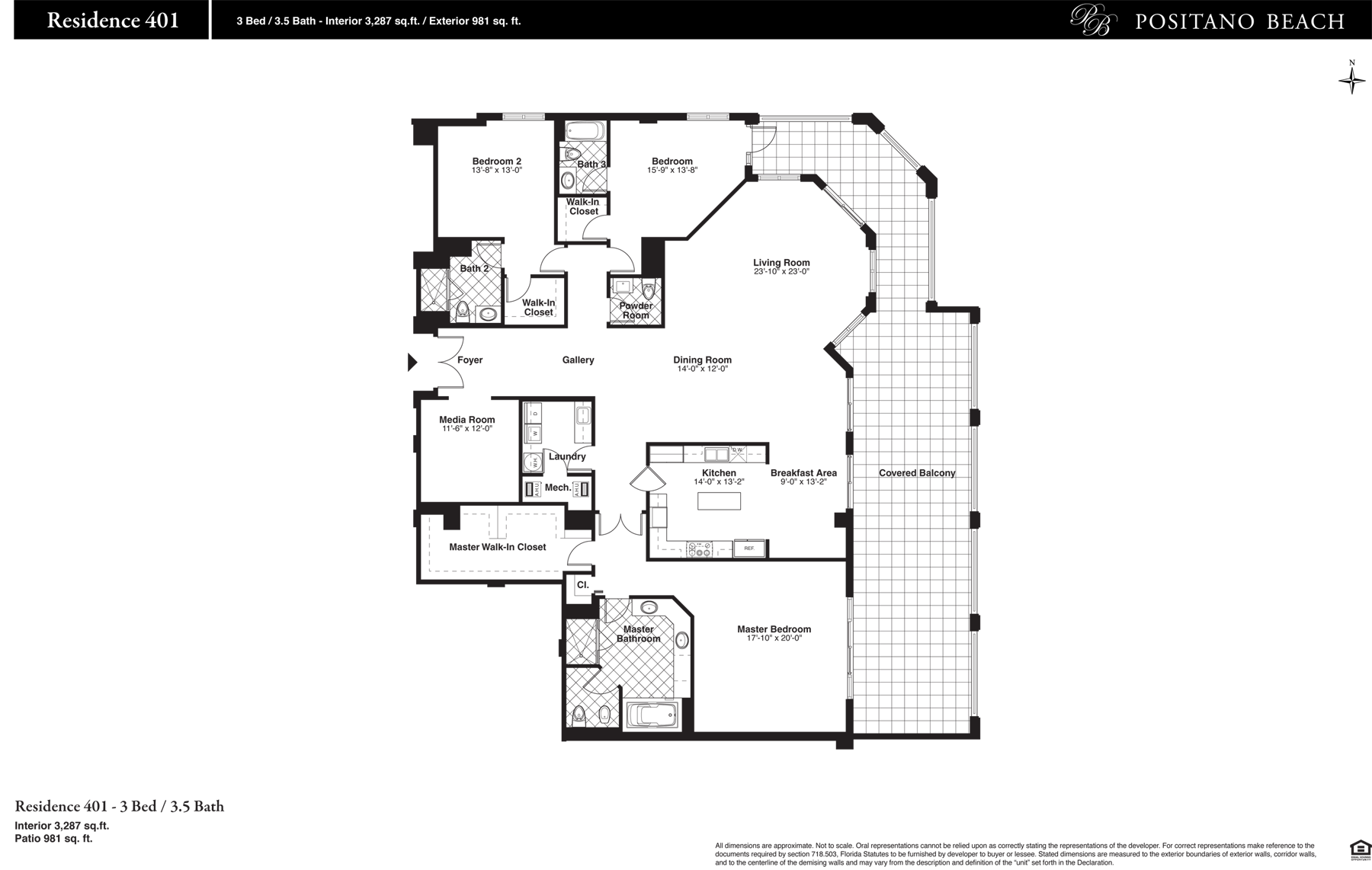 Positano Beach - Floorplan 2
