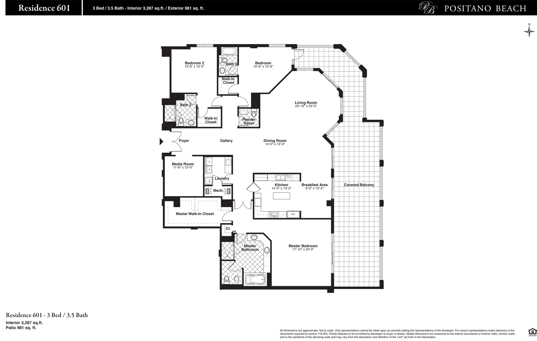 Positano Beach - Floorplan 9