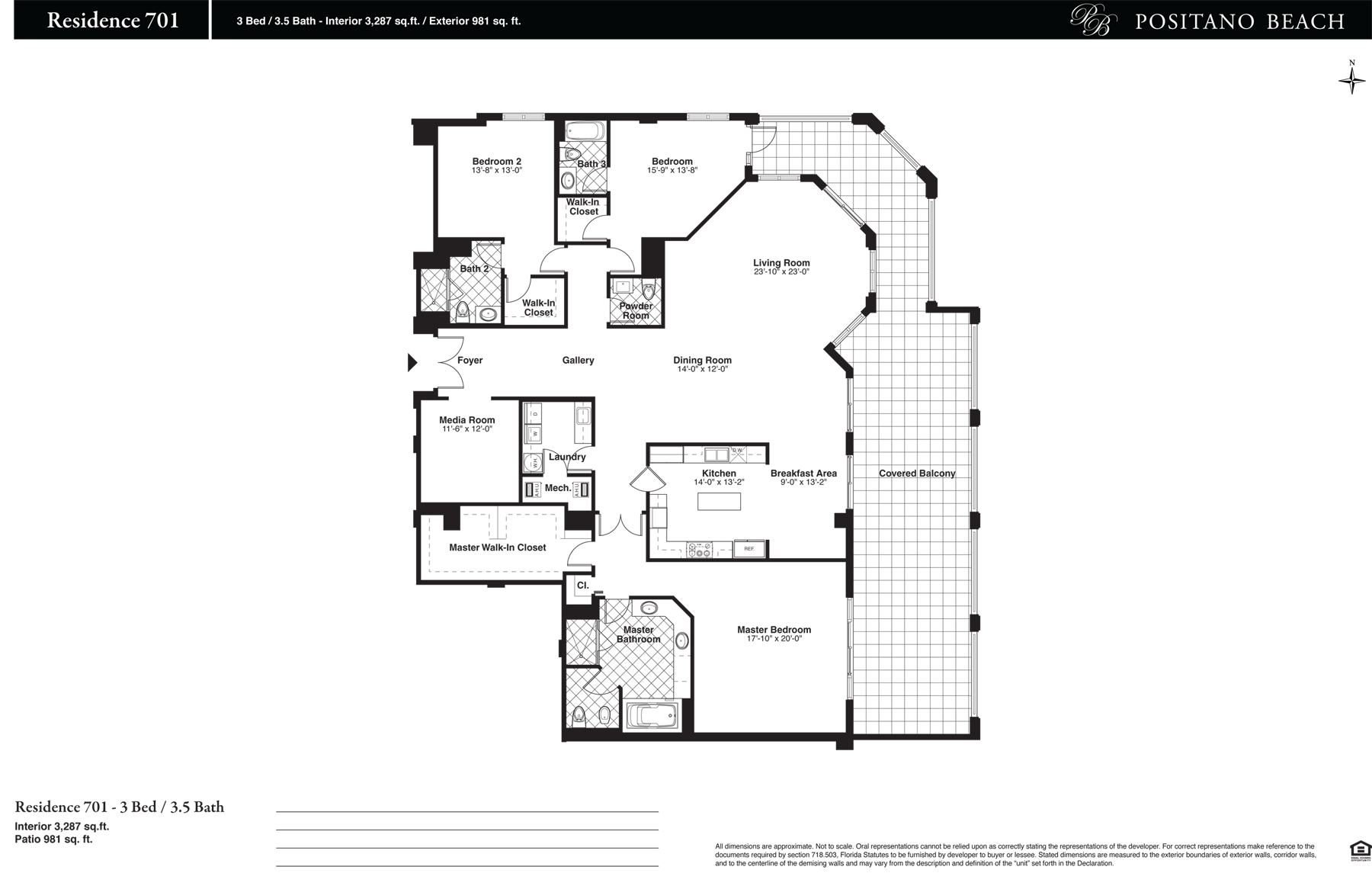 Positano Beach - Floorplan 14