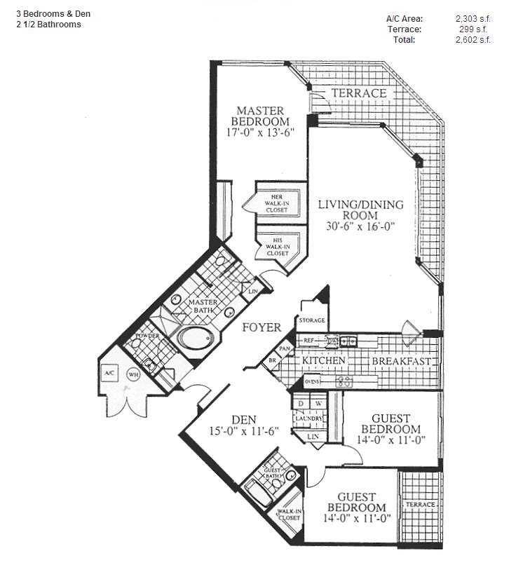 Renaissance On The Ocean - Floorplan 1