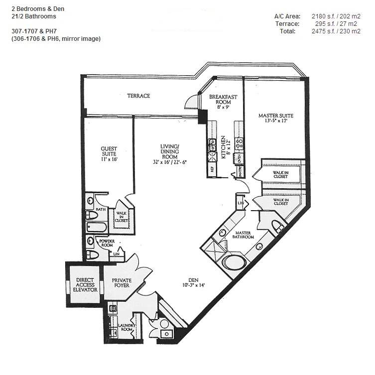 Renaissance On The Ocean - Floorplan 3