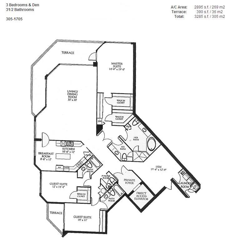 Renaissance On The Ocean - Floorplan 5