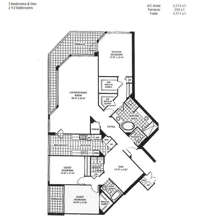 Renaissance On The Ocean - Floorplan 6