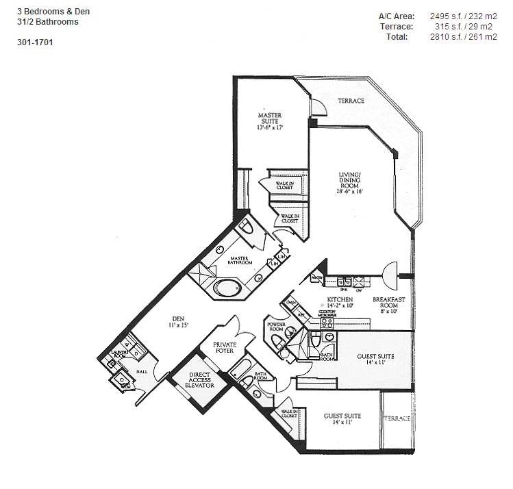 Renaissance On The Ocean - Floorplan 7