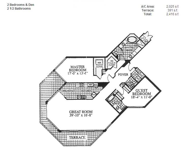 Renaissance On The Ocean - Floorplan 9