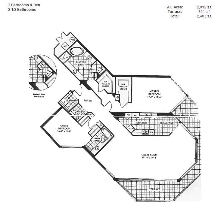 Renaissance On The Ocean - Floorplan 10