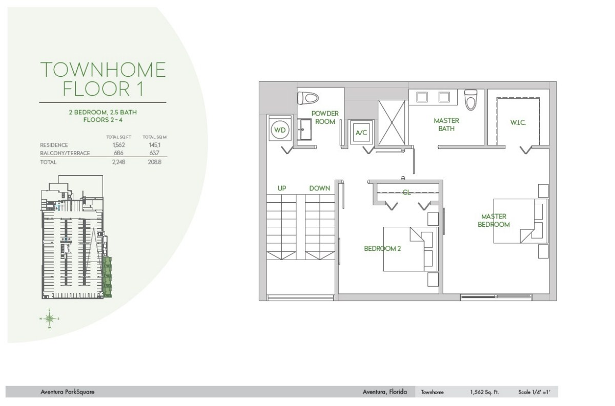 Residences at Park Square - Floorplan 1
