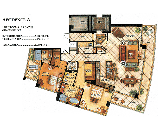 Ritz-Carlton Bal Harbour - Floorplan 1