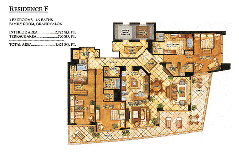 Ritz-Carlton Bal Harbour - Floorplan 2