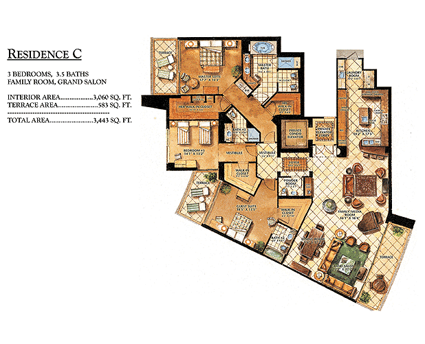Ritz-Carlton Bal Harbour - Floorplan 3