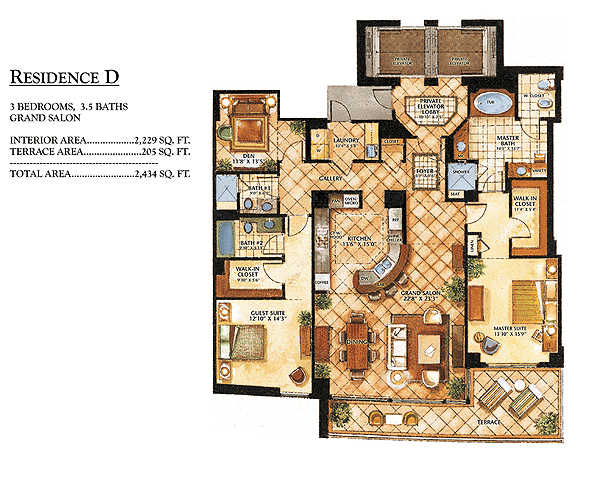 Ritz-Carlton Bal Harbour - Floorplan 4