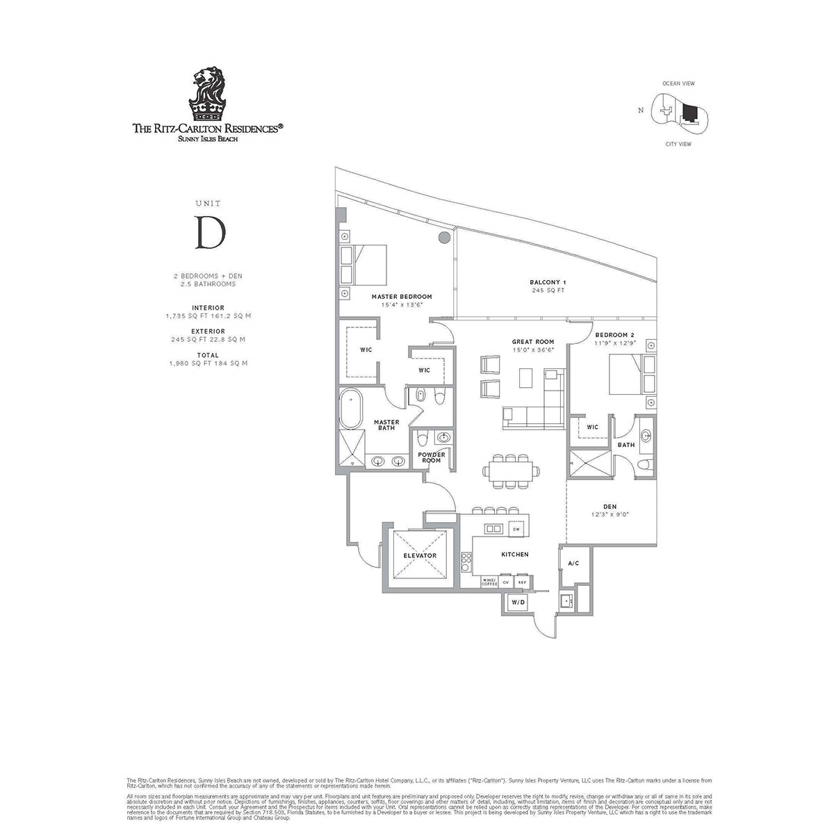 Ritz-Carlton Residences Sunny Isles Beach - Floorplan 1