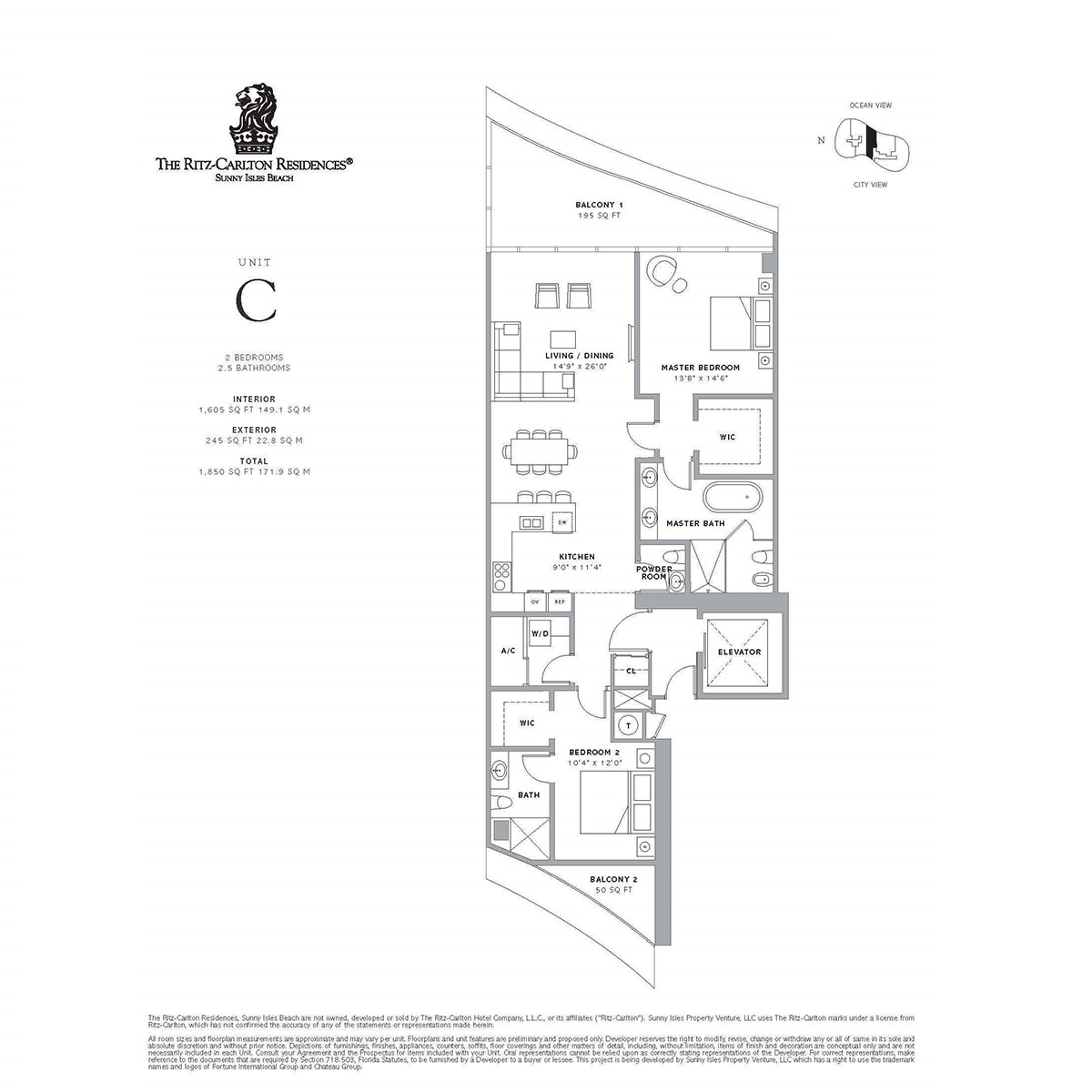 Ritz-Carlton Residences Sunny Isles Beach - Floorplan 2