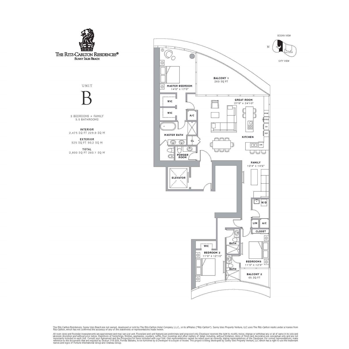Ritz-Carlton Residences Sunny Isles Beach - Floorplan 3