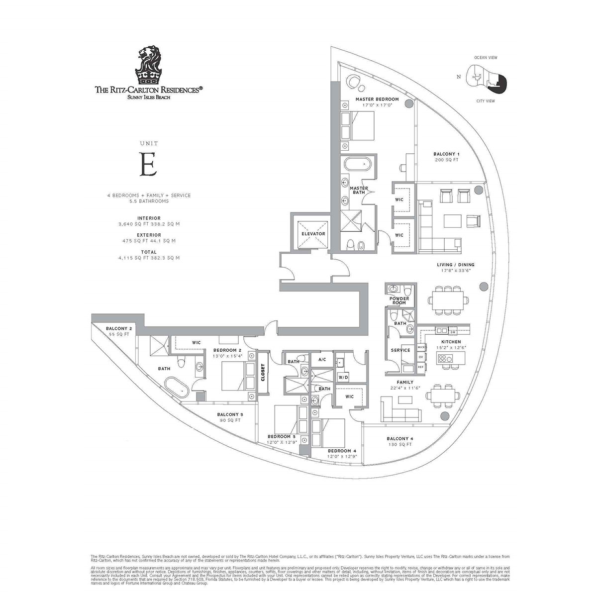 Ritz-Carlton Residences Sunny Isles Beach - Floorplan 4