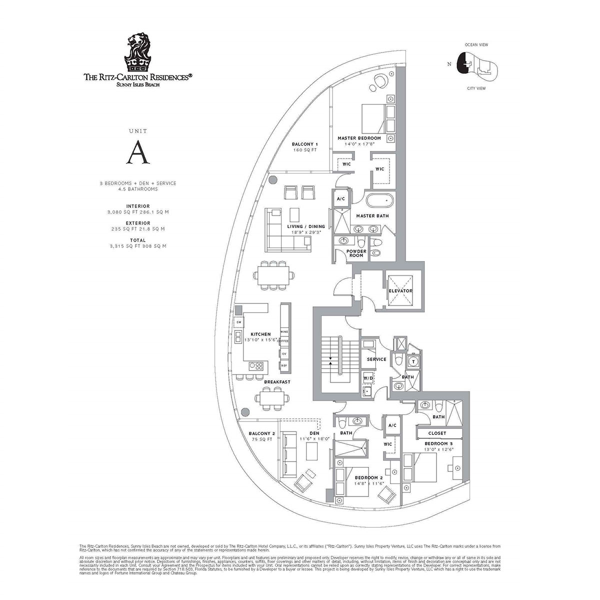 Ritz-Carlton Residences Sunny Isles Beach - Floorplan 5