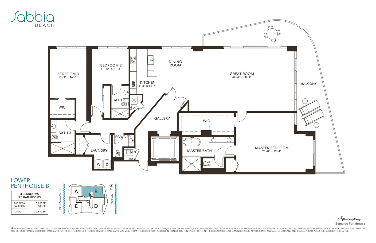 SABBIA Beach Condos - Floorplan 9