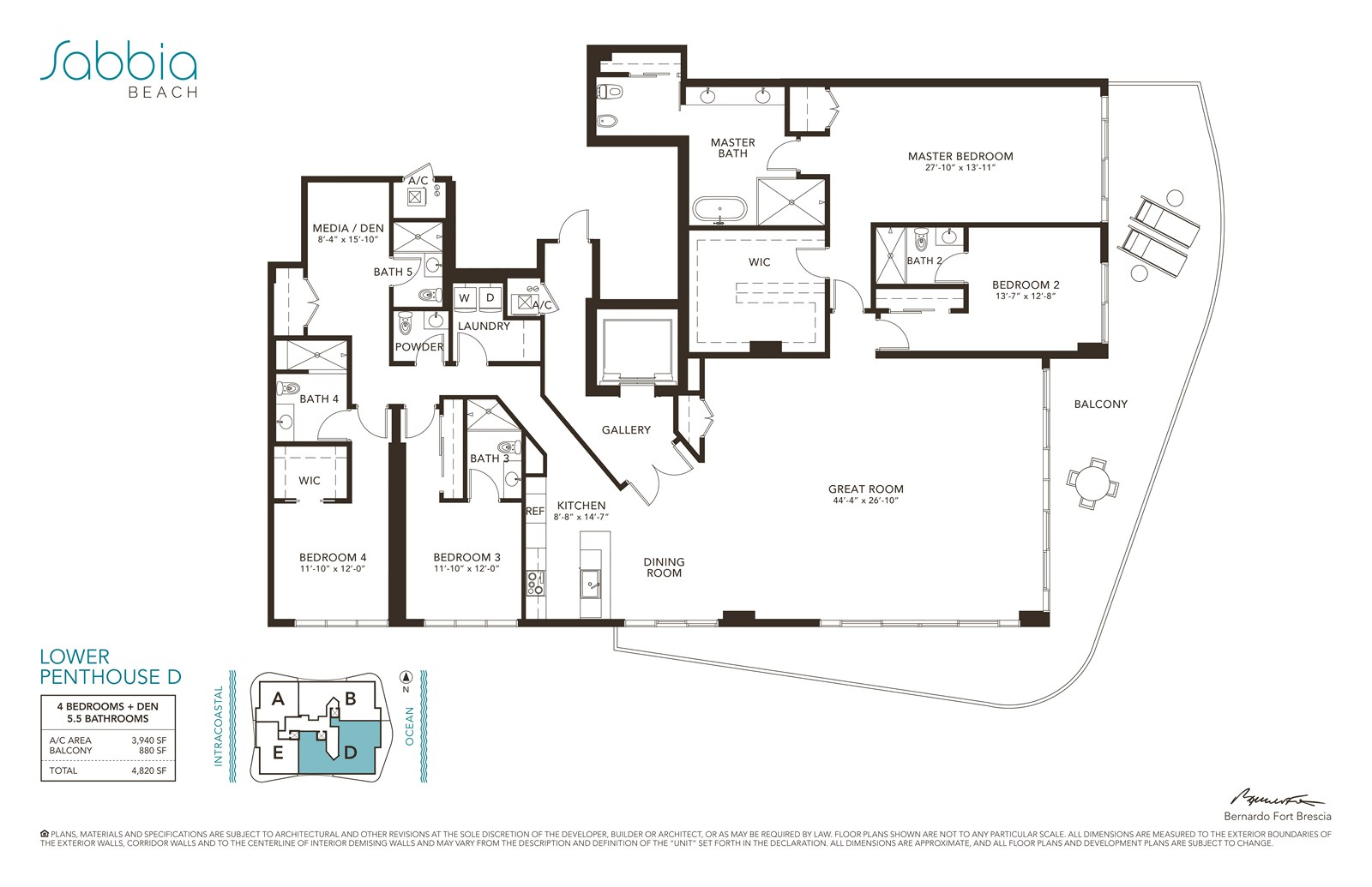 SABBIA Beach Condos - Floorplan 13