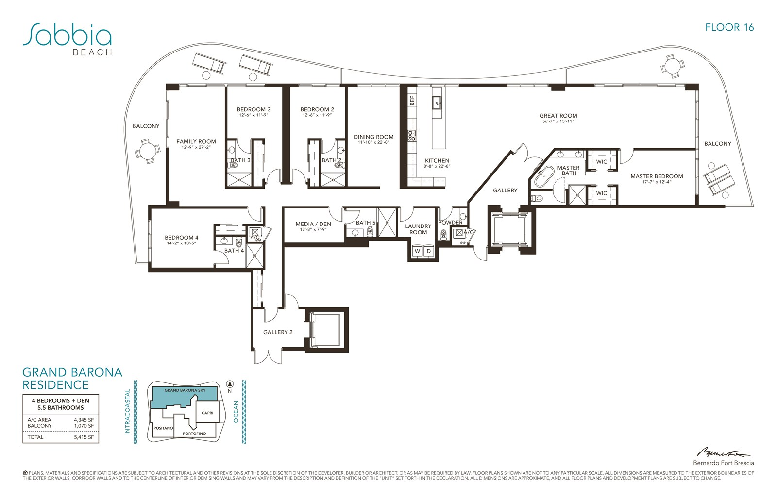 SABBIA Beach Condos - Floorplan 3