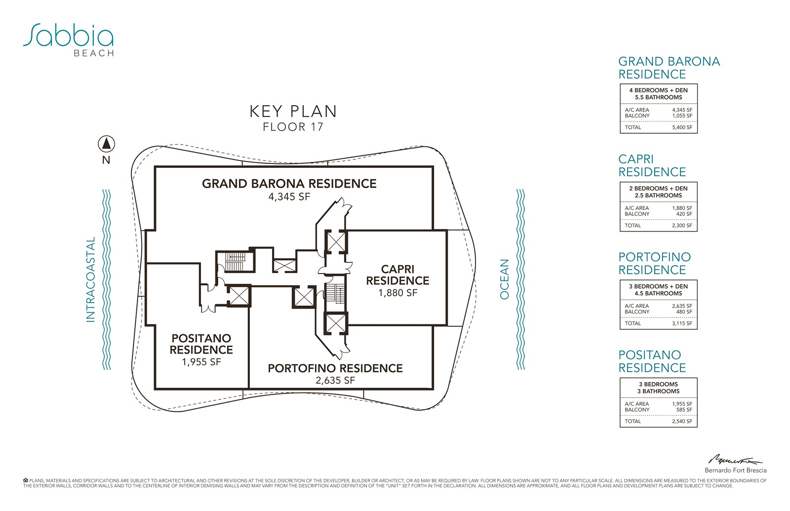 SABBIA Beach Condos - Floorplan 1