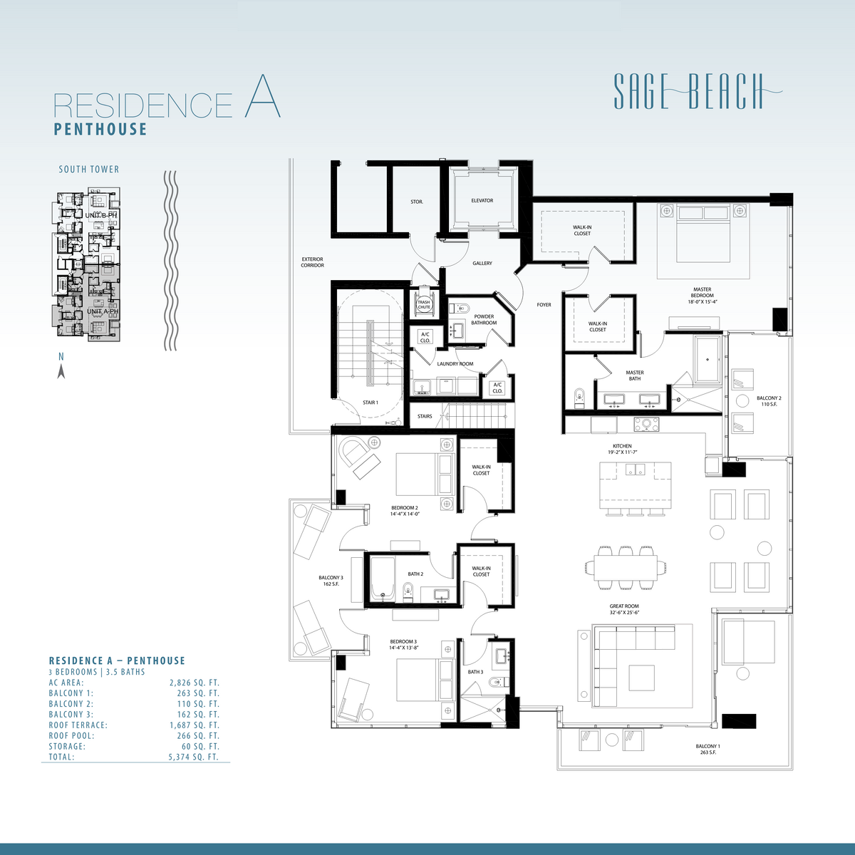 Sage Beach - Floorplan 1