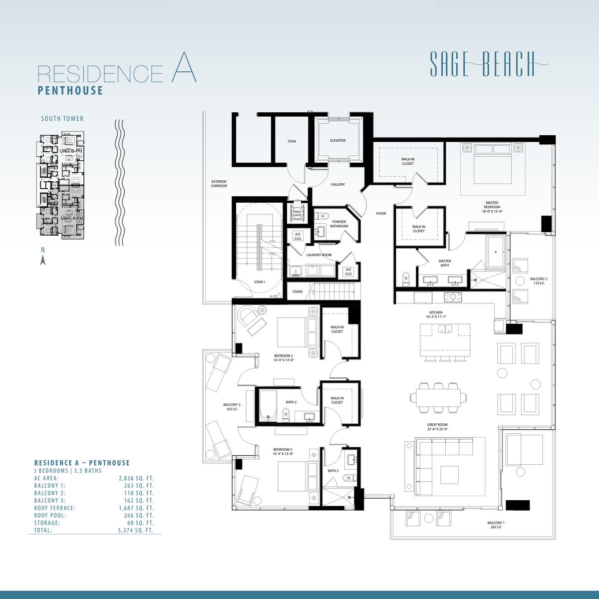 Sage Beach - Floorplan 1