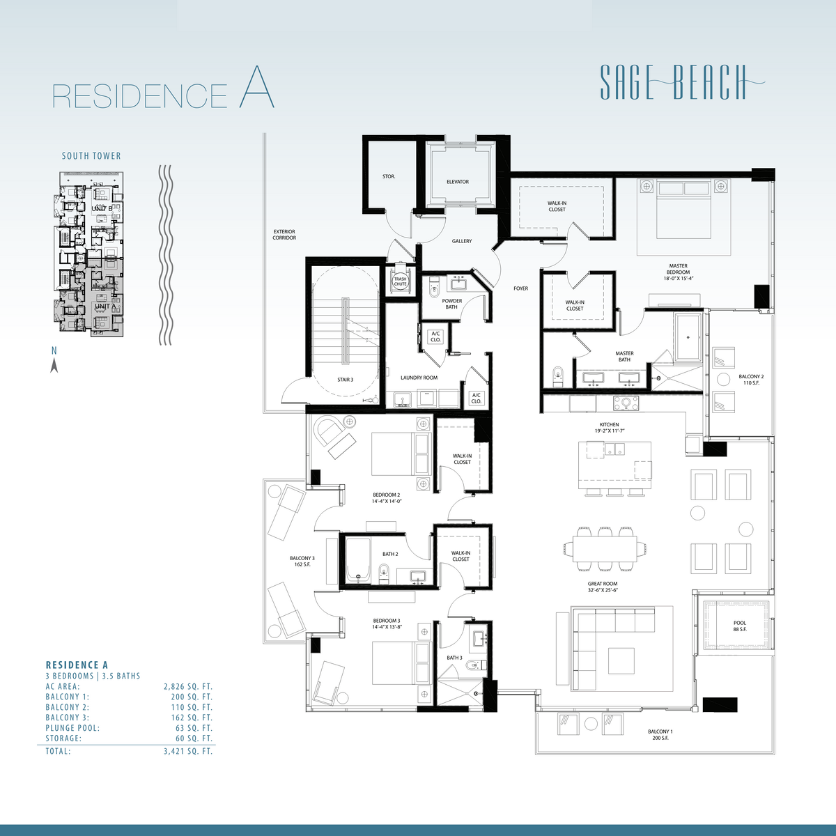 Sage Beach - Floorplan 4