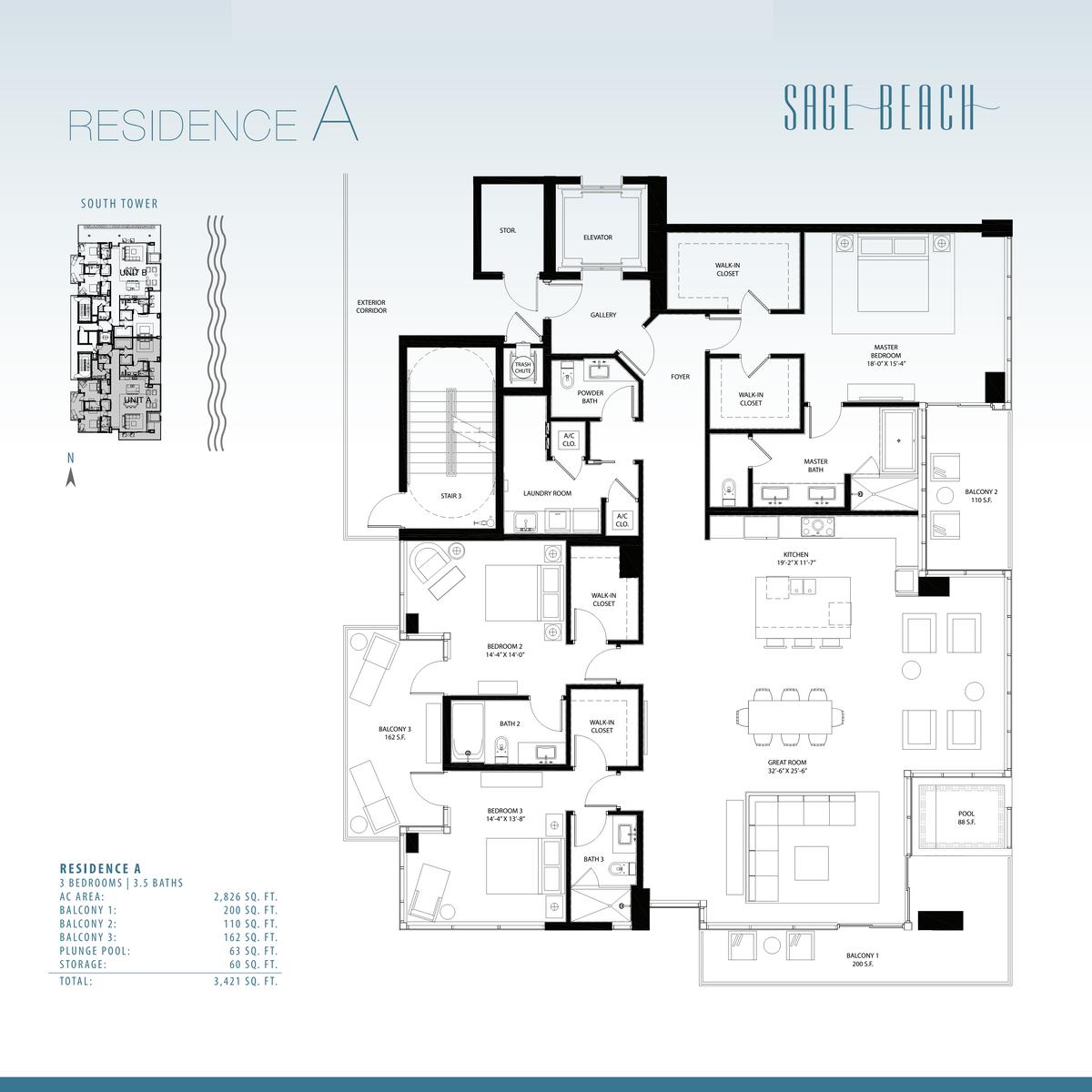 Sage Beach - Floorplan 4