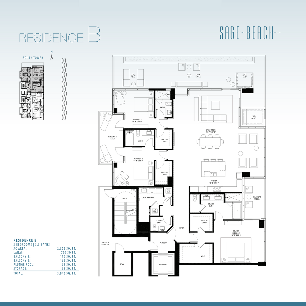 Sage Beach - Floorplan 5