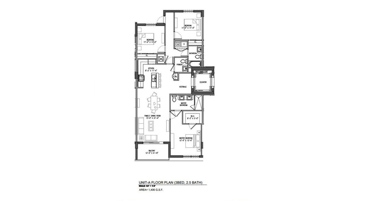 Sereno at Bay Harbor Islands - Floorplan 1