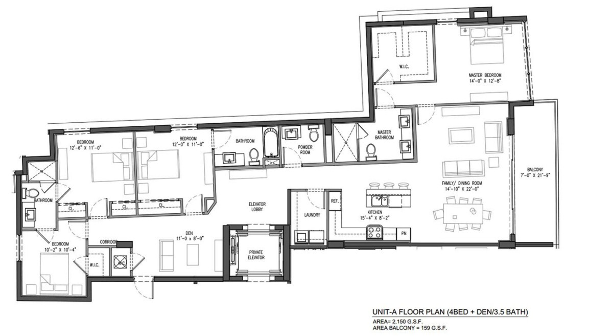 Sereno at Bay Harbor Islands - Floorplan 3