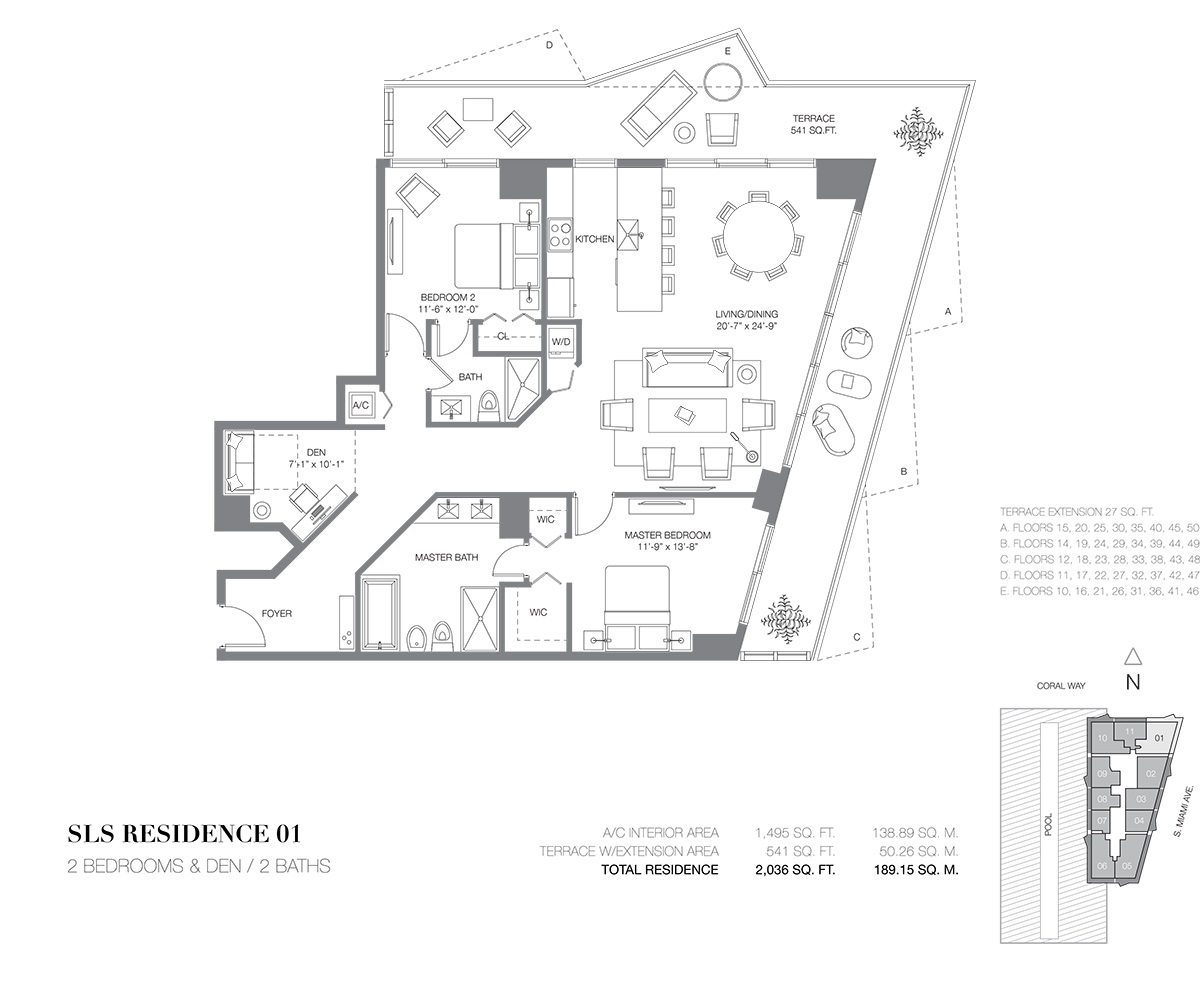 SLS Brickell - Floorplan 1