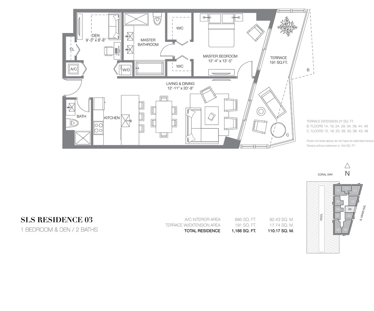 SLS Brickell - Floorplan 2