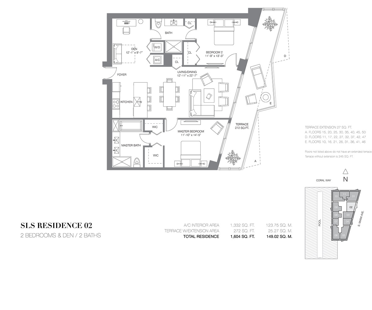 SLS Brickell - Floorplan 3
