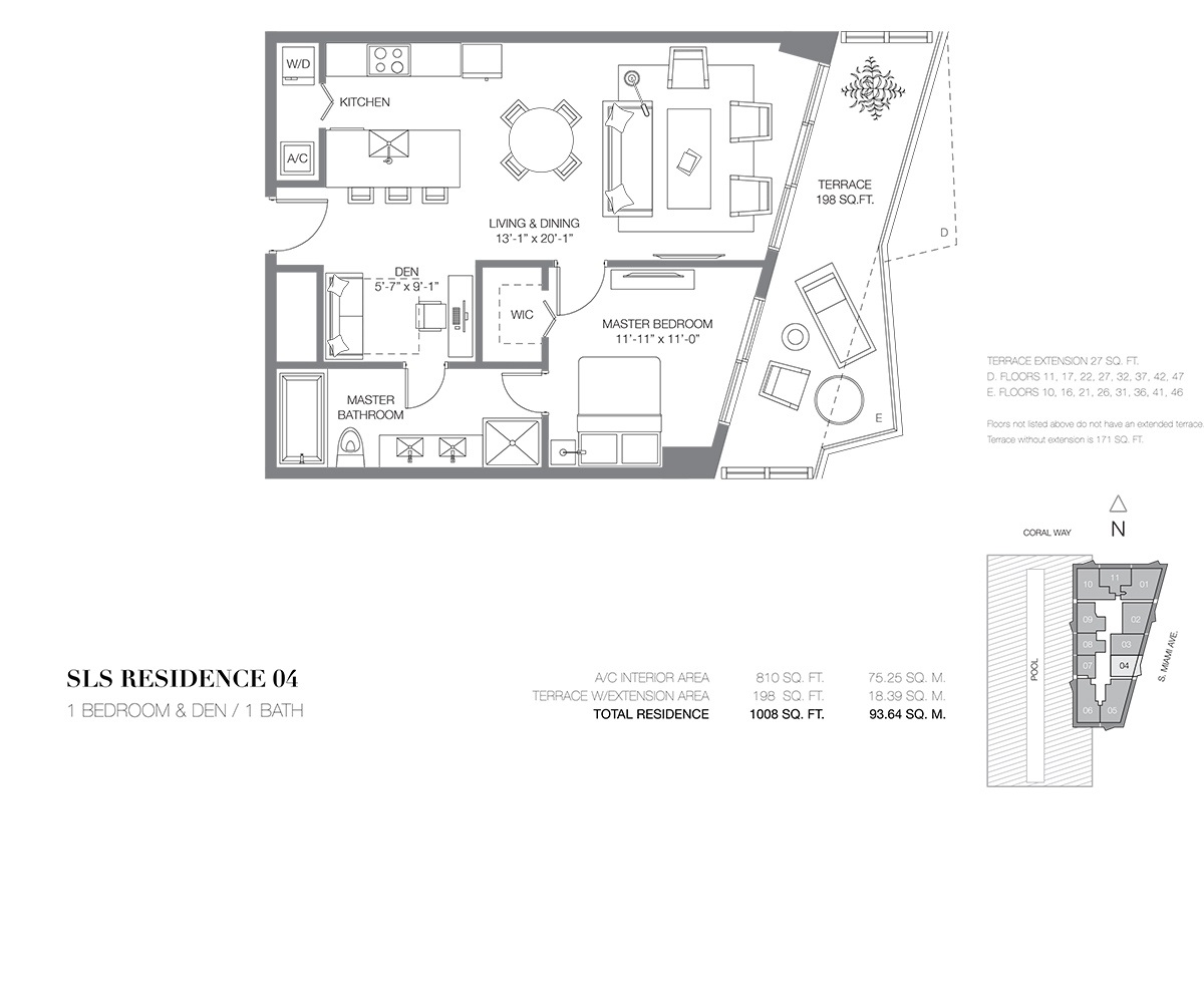 SLS Brickell - Floorplan 4