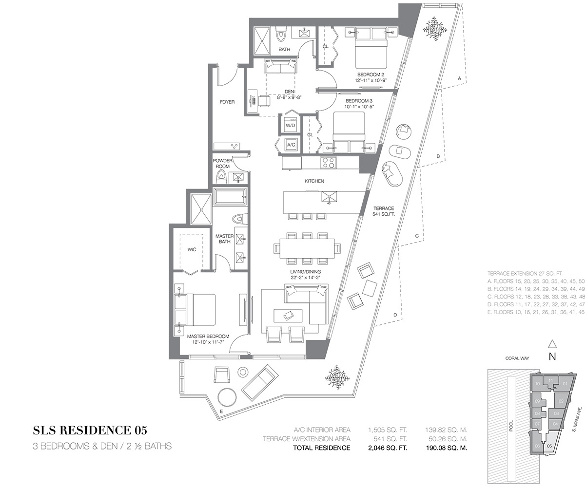 SLS Brickell - Floorplan 5