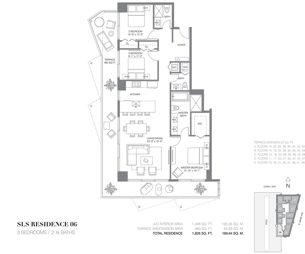 SLS Brickell - Floorplan 6